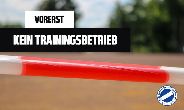 Vorerst kein Training