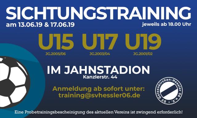 Sichtungstraining U15, U17 & U19